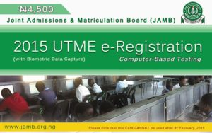 JAMB UTME 2015 registration extended