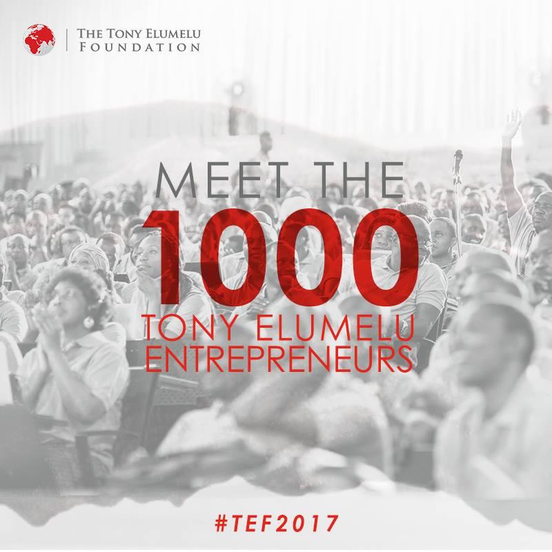 View List of Winners as 1000 Tony Elumelu Entrepreneurs 2017