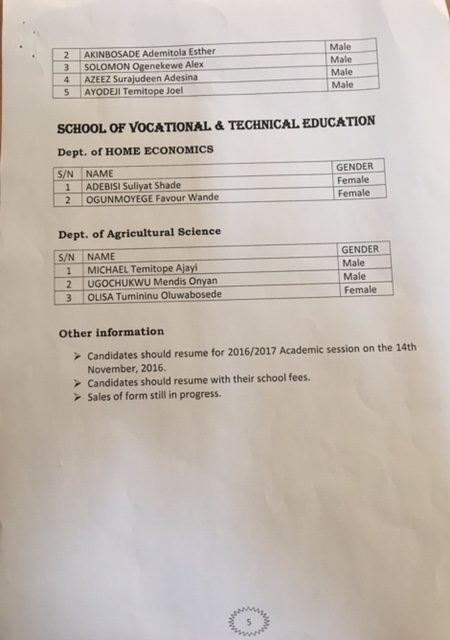 ACEONDO Preliminary Admission List