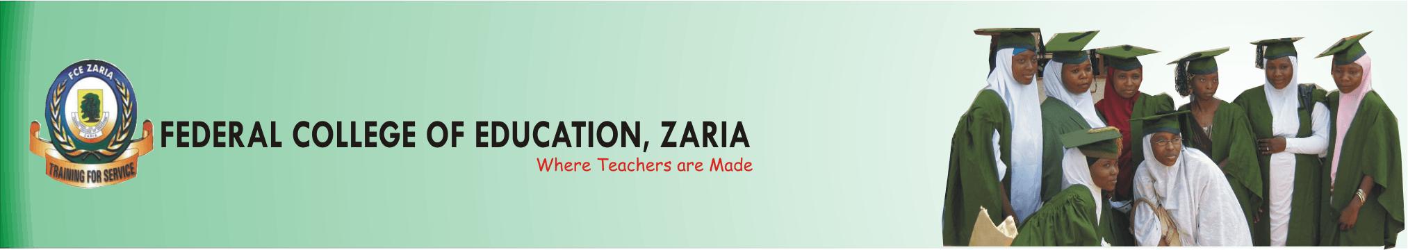 FCE Zaria NCE Admission Lists