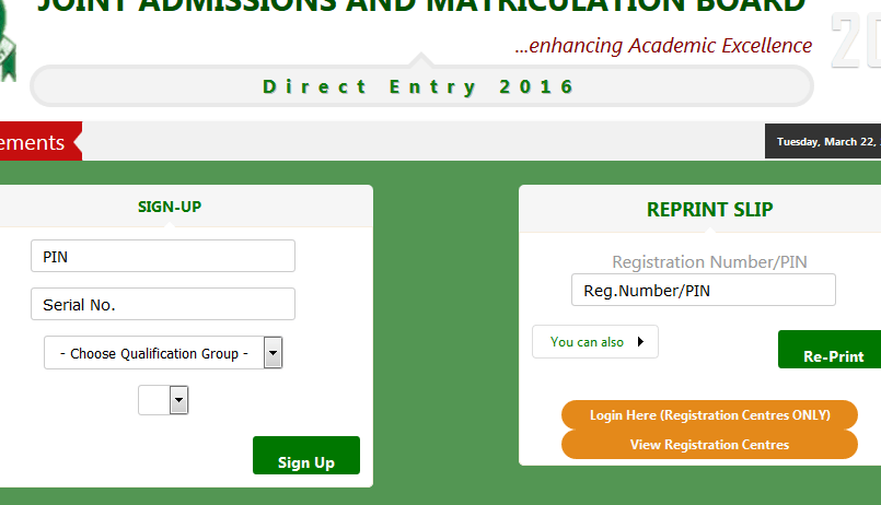 JAMB Direct Entry UPDATES